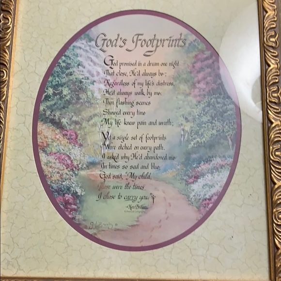 Home interior picture  God's Footprints excellent